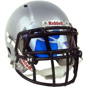 e077c74f7092 Make a statement on the field with this Under Armour Hologram Football Visor!  Blue mirror with UA Big Logo hologram.