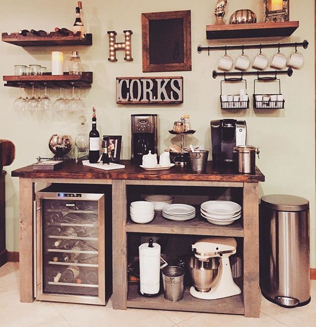 Bar ideas coffee station ideas you need to see coffe bar for Coffee station furniture