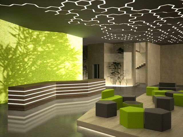 Multi Level Hotel Design Concept Interiors Lobby Design Office