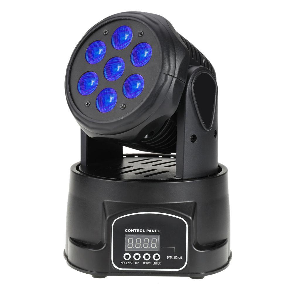 Professionele RGBW Mengen Kleur DMX-512 Mini Moving Head Licht 7 LED ...
