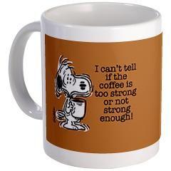 Strong Coffee Mug > NEW! Mugs > Snoopy Store