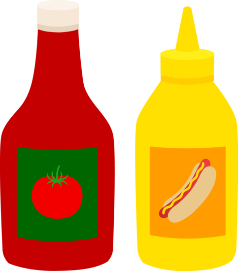 Bottles Of Ketchup And Mustard Free Clip Art Mustard Bottle Ketchup Bottle
