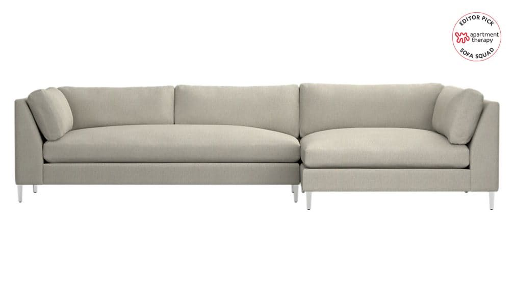 Reviewed The Most Comfortable Sofas At Cb2 2 Piece Sectional