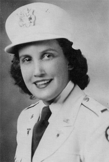Photo of Second Lieutenant Eula M. Awbrey, ANC, N-728790, Second Platoon, 12th Field Hospital (1943) ~
