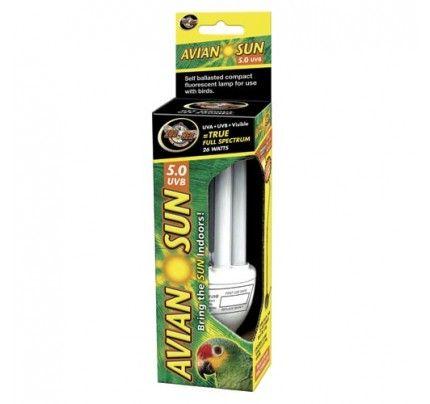 26-watt Zoo Med Avian Sun Compact Fluorescent Bird Lamp