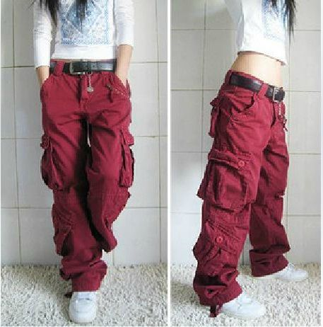 fashion style new style good texture baggy clothes for women | khaki-cargo-pants-women-Dance-hip ...