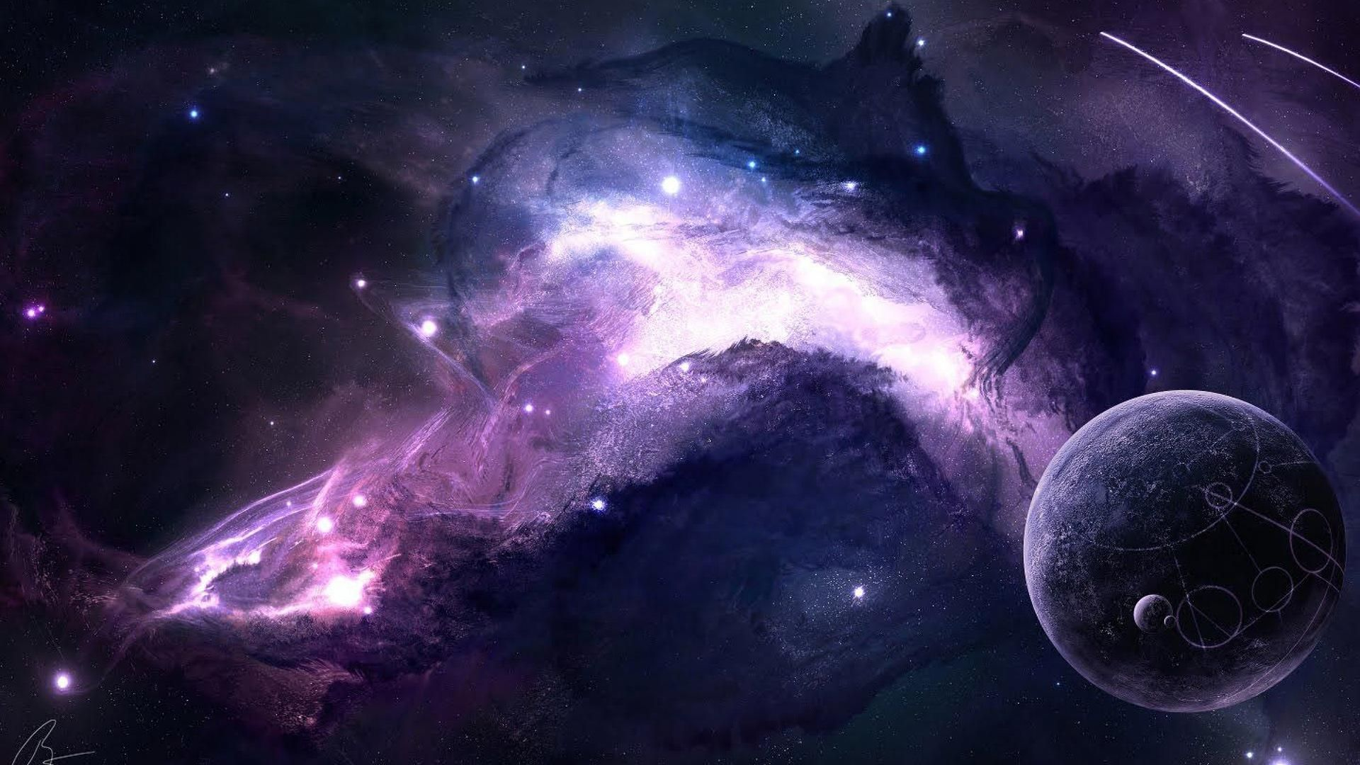 19201080 Space Is Awesome Purple Galaxy Wallpaper Wallpaper Space Space Art Wallpaper
