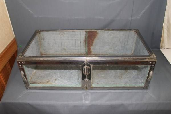 Glass Case 古い駄菓子屋のブリキガラスケースアンティーク陳列棚 インテリア 雑貨 家具 Antique ¥10800yen 〆07月14日