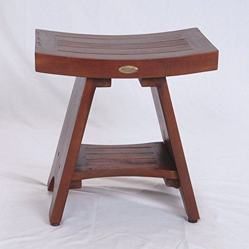 Peachy Fully Assembled Serenity Asian Style Teak Shower Bench Stool Gmtry Best Dining Table And Chair Ideas Images Gmtryco