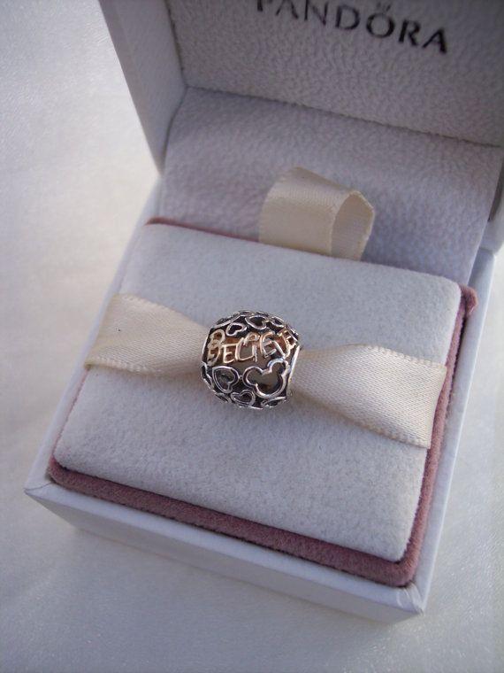 d73b4423b Believe 14k Gold Sterling Silver Bracelet by JEWELSELAGANT on Etsy Pandora  Charms Disney, Pandora Beads