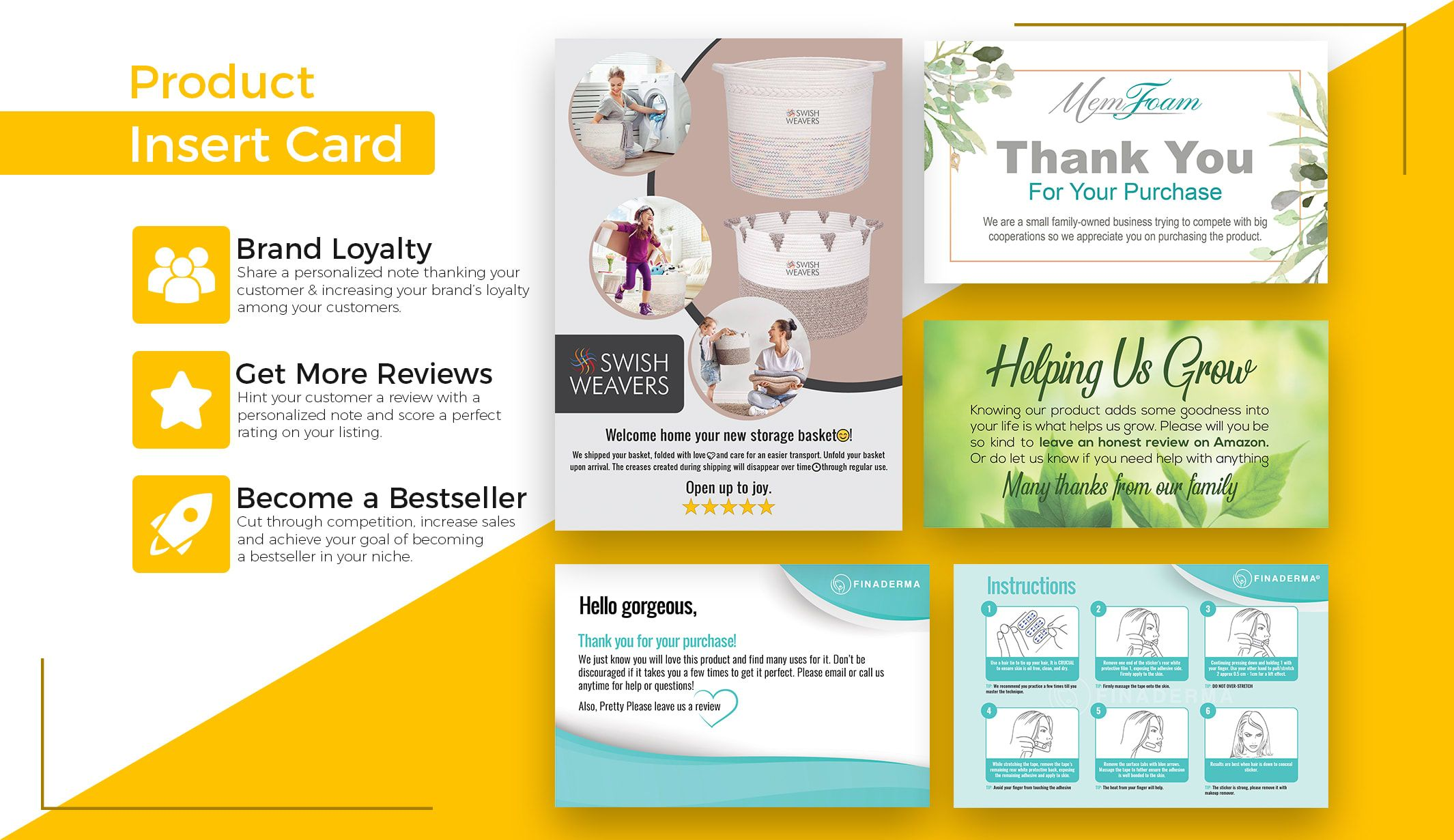 Emerchant I Will Design Professional Amazon Product Insert Card Amazon Thank You Card For 15 On Fiverr Com Free Business Card Templates Make Business Cards Lipsense Business Cards
