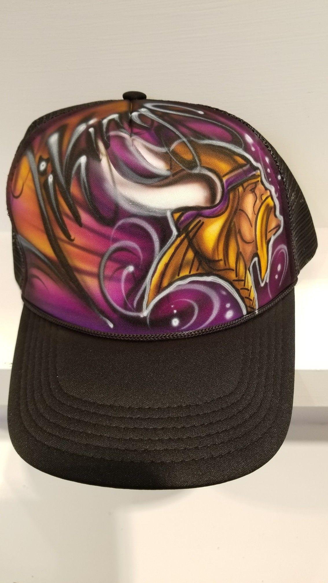 Vikings airbrush snapback graffiti hat  vikings  graffitiart ... 5065dd8e9969