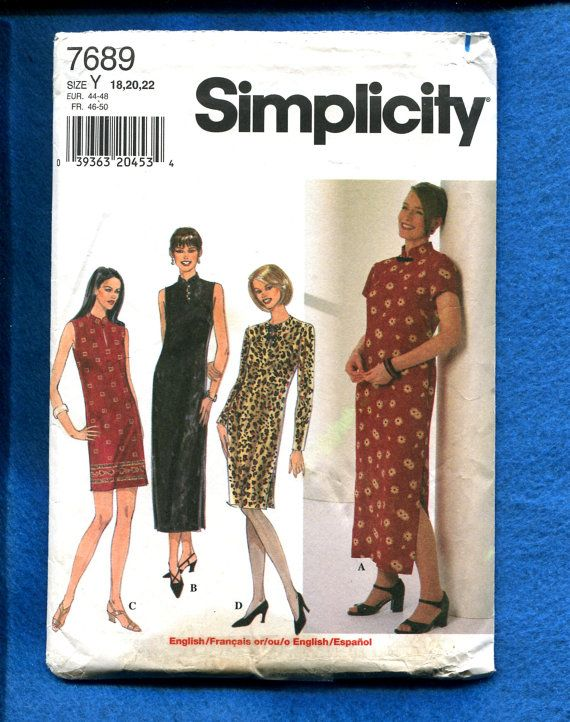 Simplicity 7689 Asian Inspired Dresses with Mandarin Collars Side ...