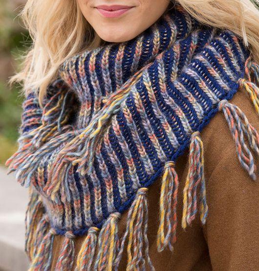 Free Knitting Pattern for Horizon Brioche Cowl | Вязание