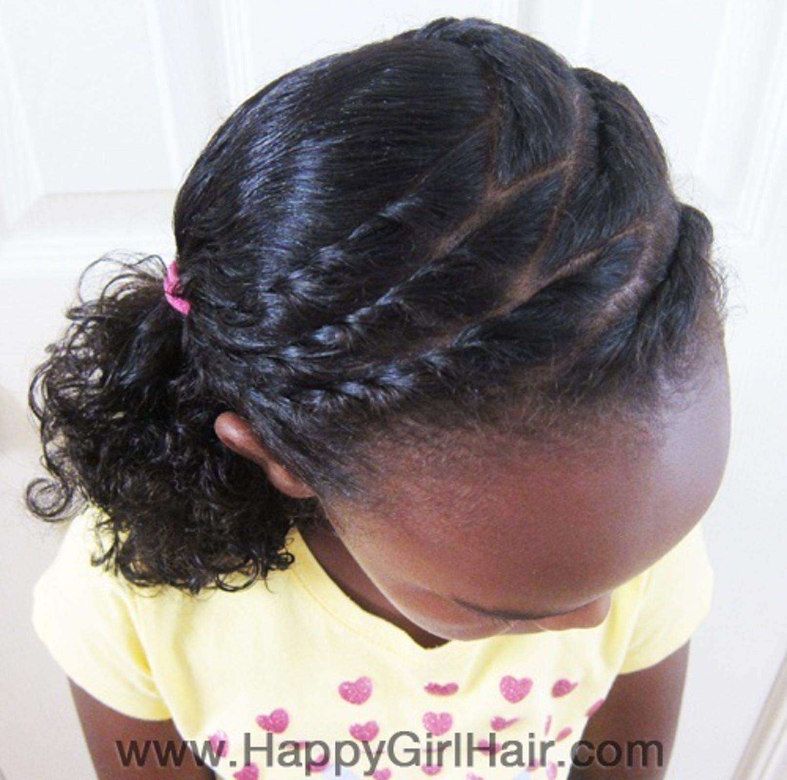 Coiffures enfants des modèles pour cheveux frisés en