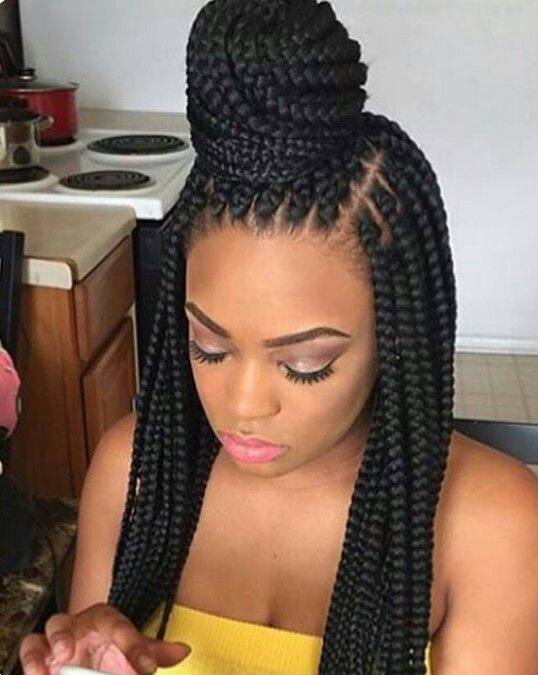Pin by Love, Makayla on Black Hairstyles   Plaits, Hair, Box Braids