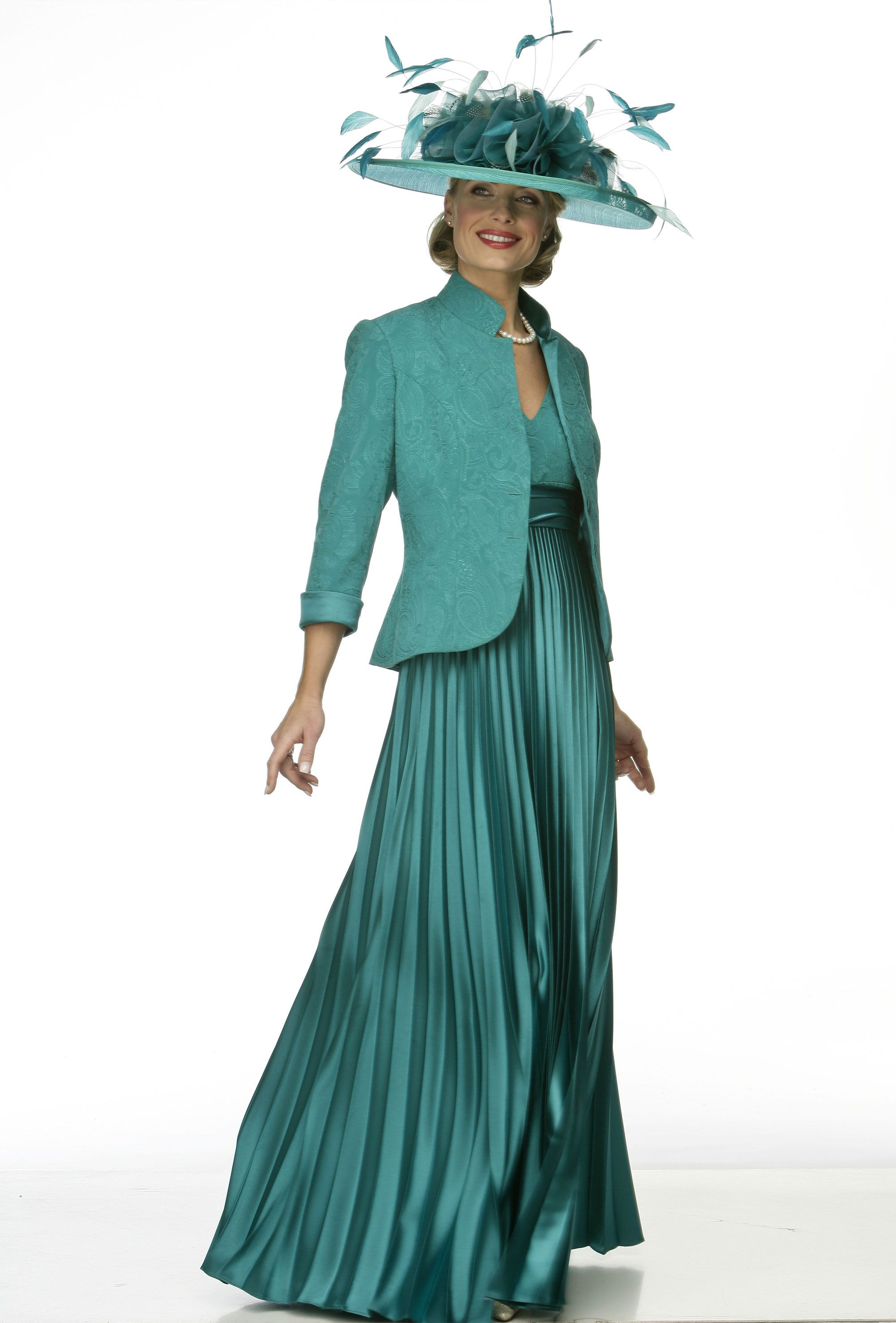 Sunray pleat dress and embroidered jacket » | Wedding clothes ...