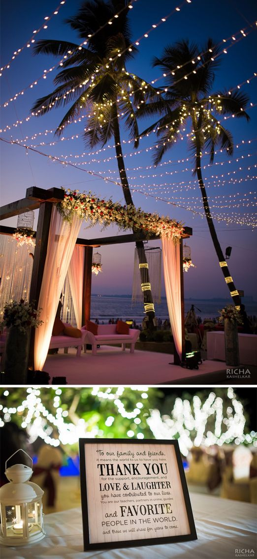 Outdoor Beach Wedding Decor With Pastel D Fl And Fairy Lights Extra Brownie Points For The Adorable Mini Blackboards As Centrepieces On