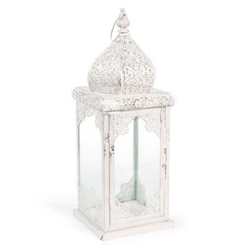Maison Du Monde Lanterne.Lanterne En Metal Blanche Ayodhya Holi Maisons Du Monde Shopping