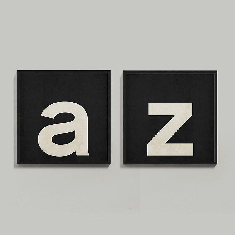 Elementary Alphabet Framed Print | Alfabeto