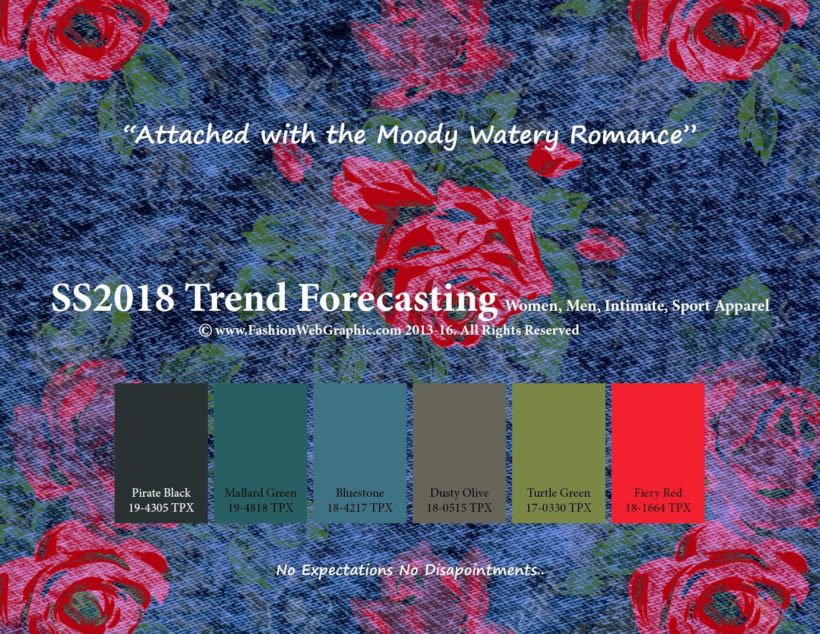 Spring Summer 2018 Trend Forecasting Is A TREND/COLOR