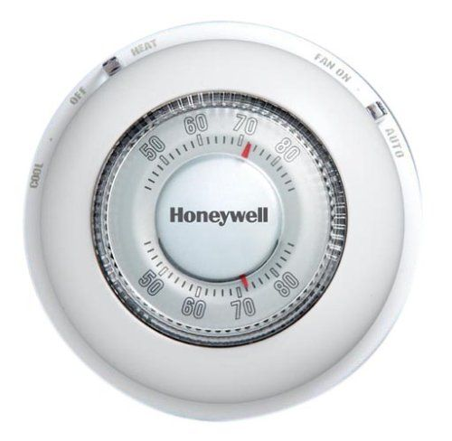Honeywell Ct87n1001 The Round Heat Cool Manual Thermostat White