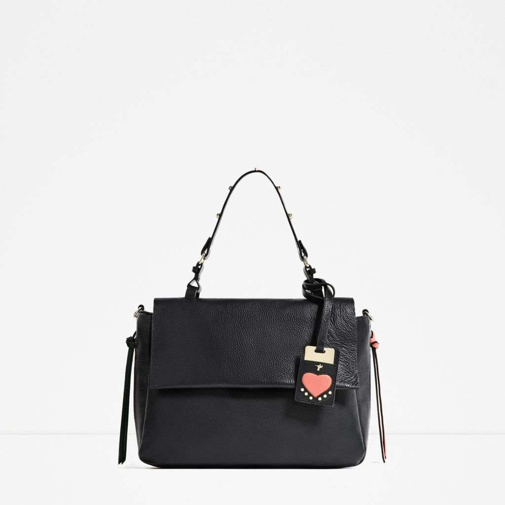 Zara Collection Ss 17 Leather City Bag With Interchangeable Handle