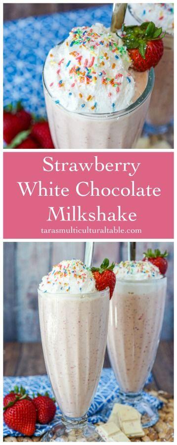 Strawberry White Chocolate Milkshake