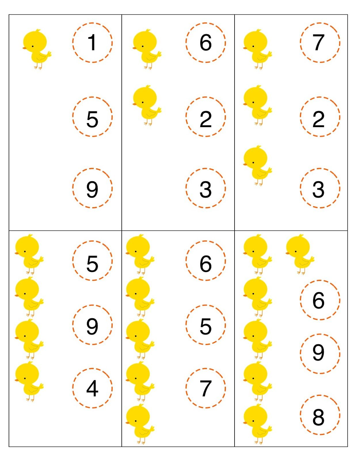 Here S A Set Of Clothespin Clip Cards For Counting