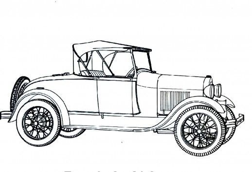 Cartoon Picture Of Vintage Car Google Search Classic Car Photoshoot Cars Coloring Pages Classic Car Photography