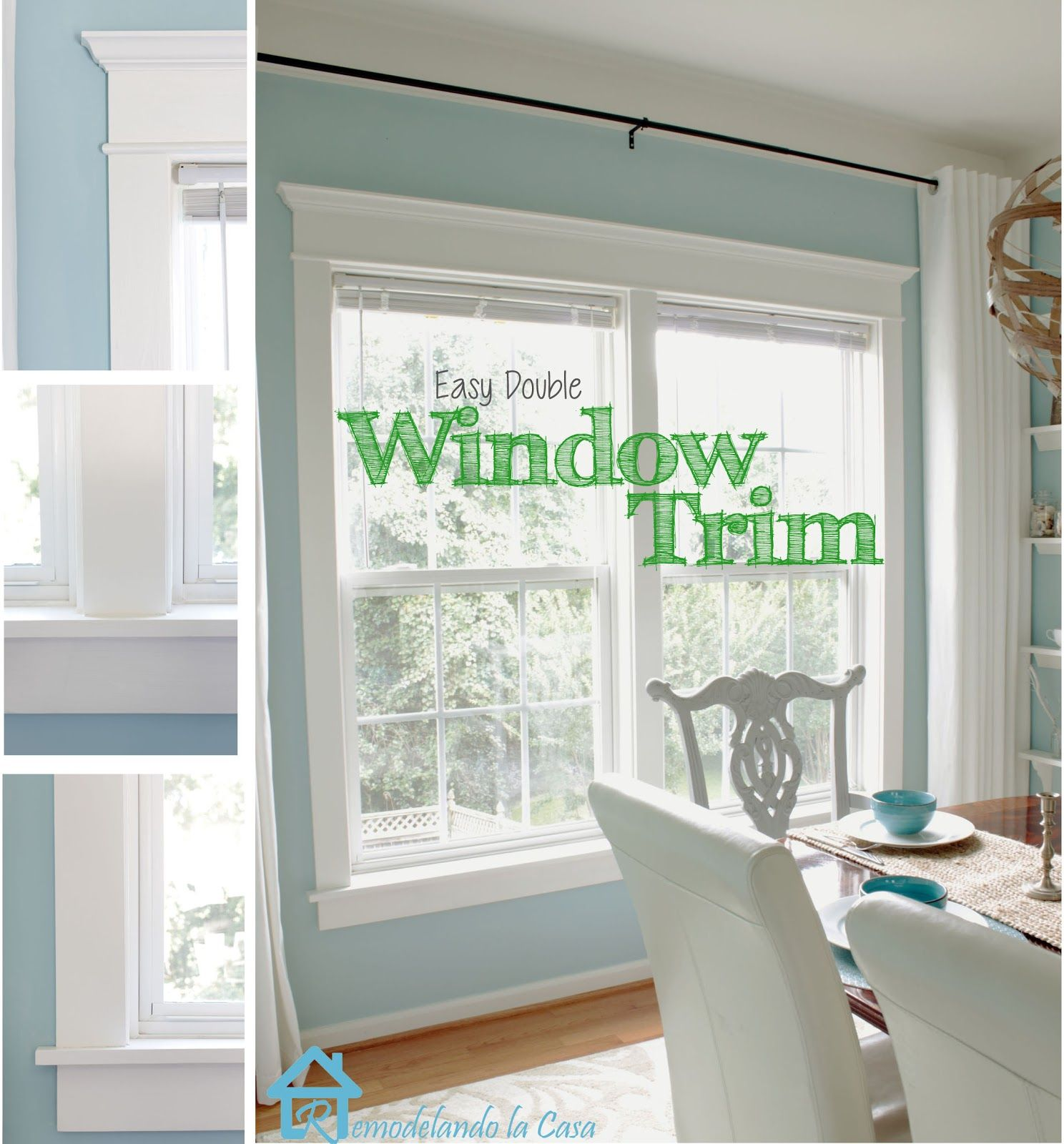 Simple interior window trim - Diy How To Add Trim Moulding To Your Windows Excellent Diy With Very Detailed Pictures For Our New Home Pinterest Moldings Window And House