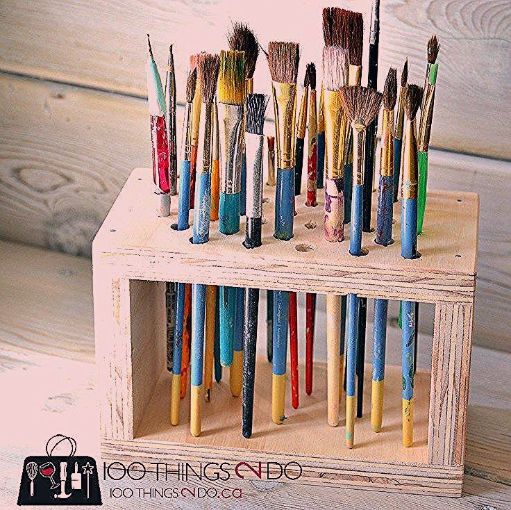 Photo of Paint Brush Storage Rack, paint brush storage