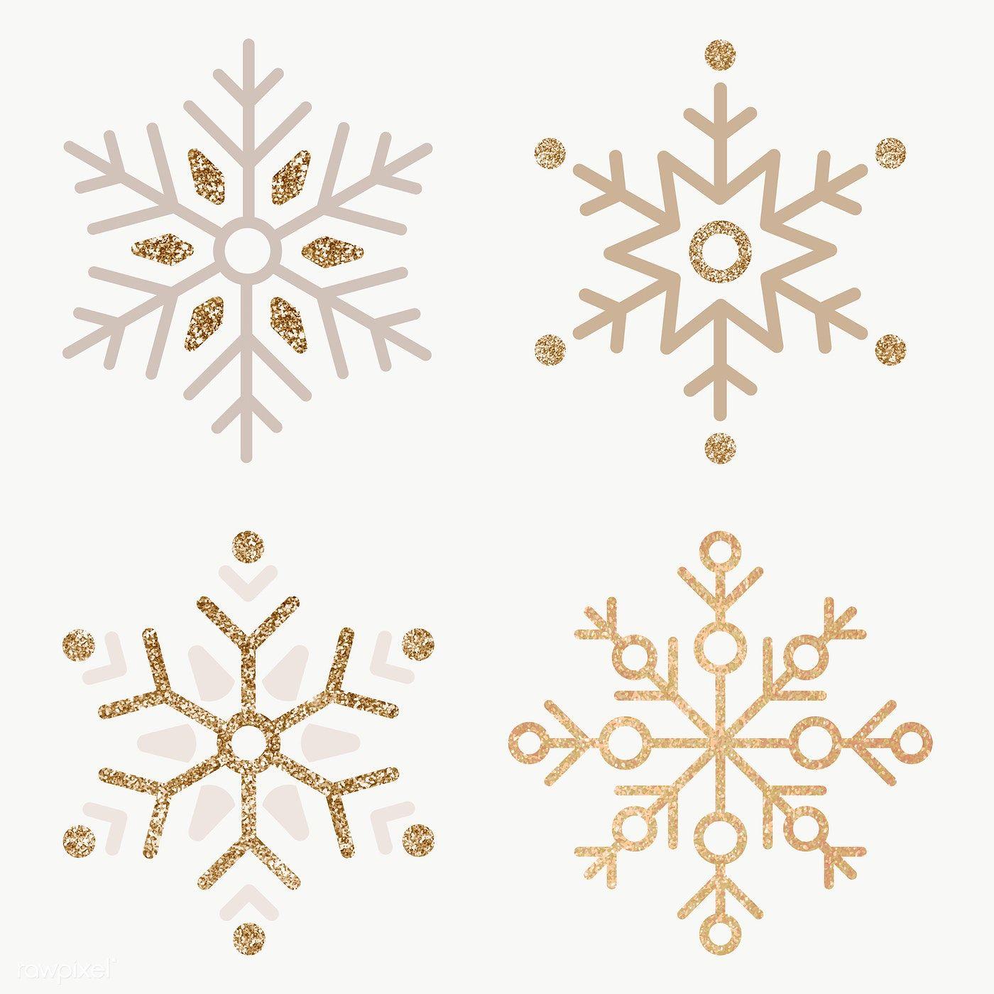 Golden Snowflake Set Social Ads Template Transparent Png Premium Image By Rawpixel Com Sasi Christmas Graphic Design Snowflakes Christmas Icons