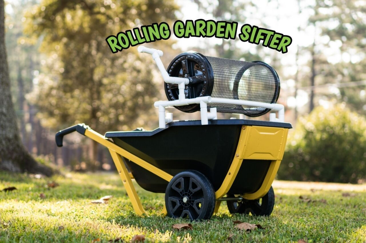 The Rolling Garden Sifter Delivers Inspires A Relaxing Healthy Lifestyle Organic Lawn Care Garden Soil Garden Tools