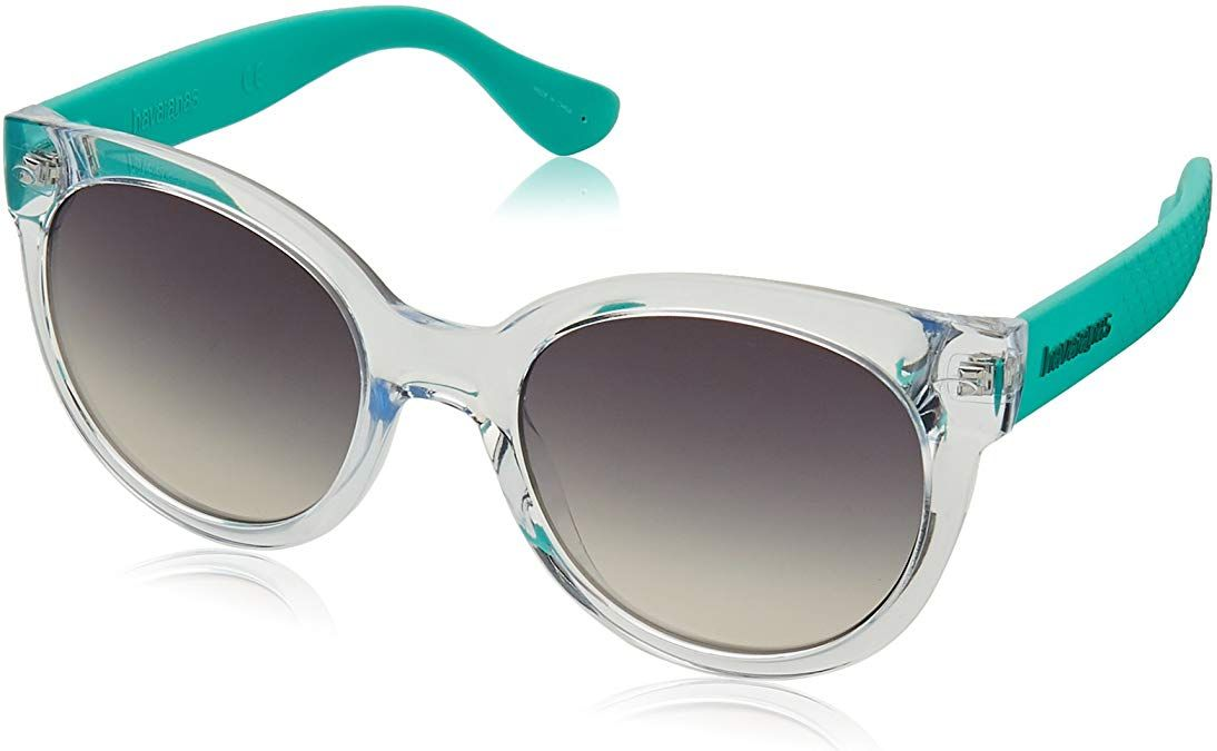 Havaianas Women's Noronha/m NORONMS Round Sunglasses, CRYSTALTURQUOIS, 52 mm