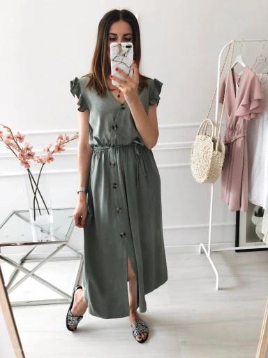 Sukienka Nasha Khaki Nowosc 9502928175 Oficjalne Archiwum Allegro Khaki Shirt Dress Fashion