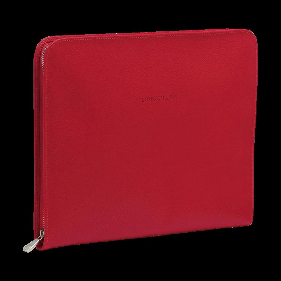 Longchamp Veau Foulonn��| Laptop case in Paprika