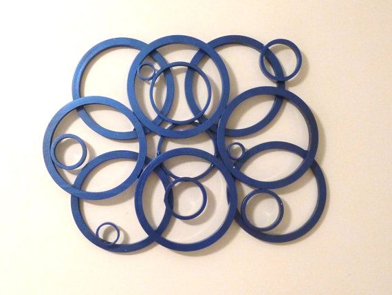 Metal ring or circle wall art from scuba tanks