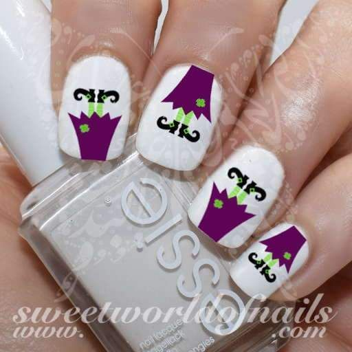 Halloween Witch Legs Nail Water Slides Fingernail Designs And Nail