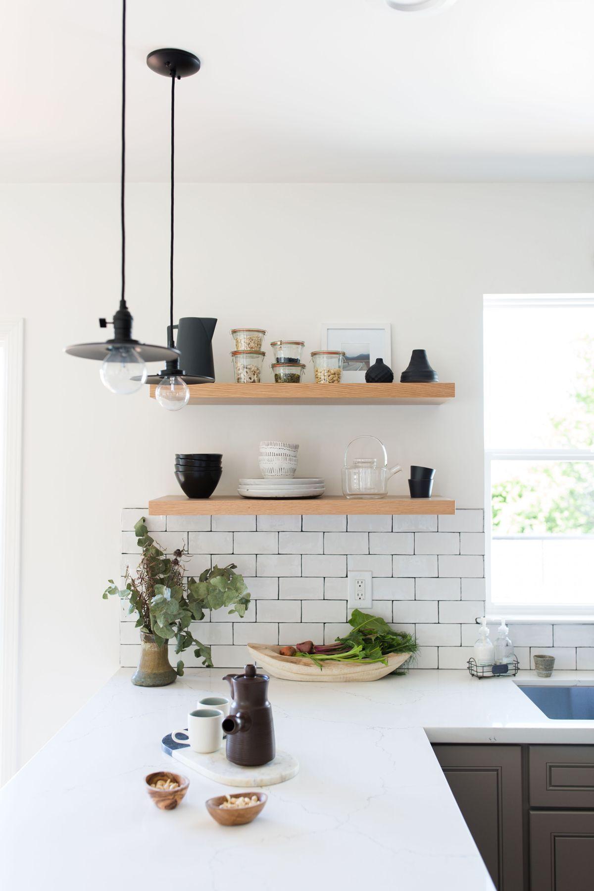 Kitchen design kitchen ideas modern kitchen open shelving