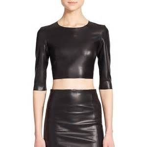 The Kooples Faux Leather Cropped Top | Pretty Little Liars
