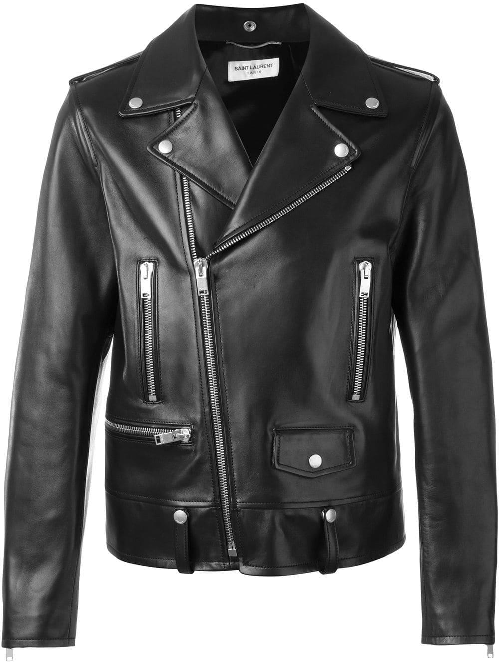 Saint Laurent Zipped Biker Jacket in 2020