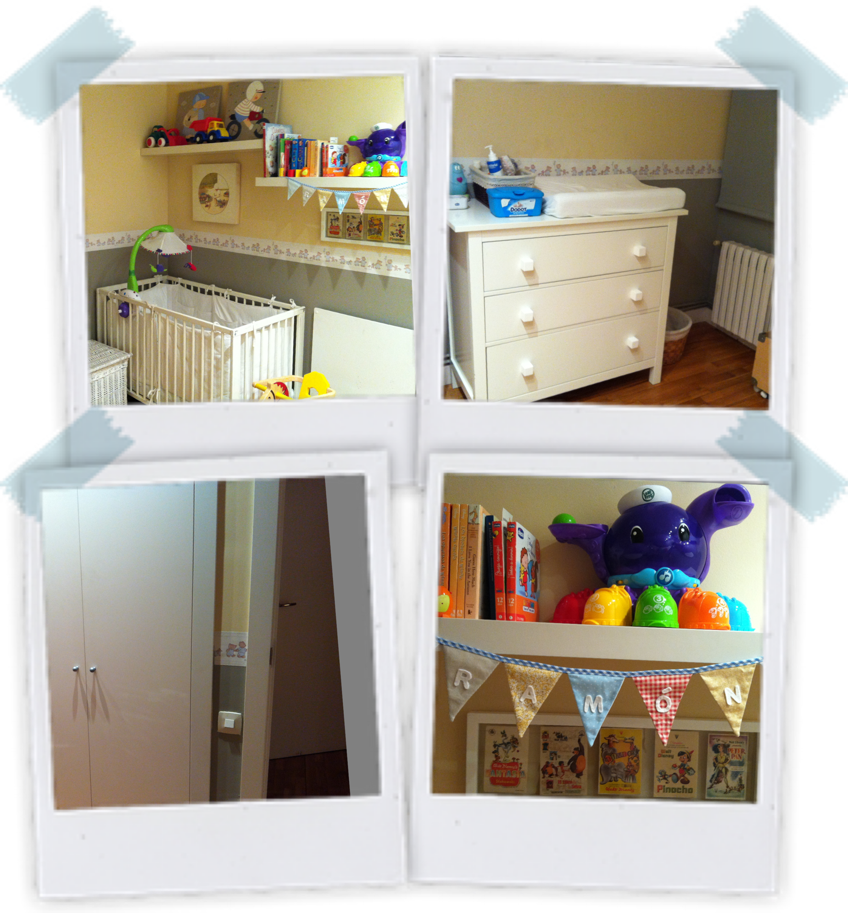 La habitación del bebé. Esta es la habitación de R, que pronto será la de C.