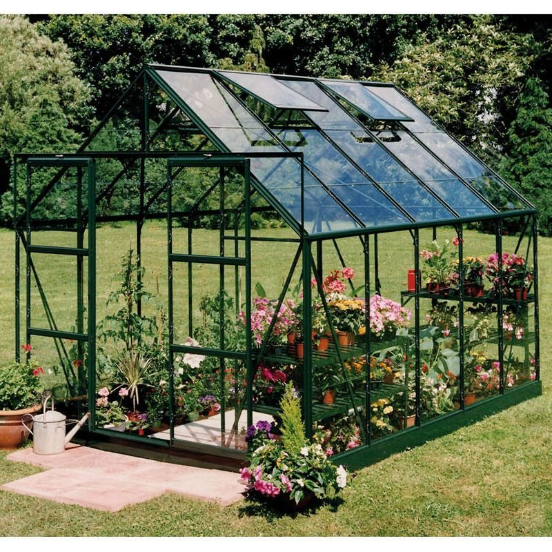 Serre de jardin Magnum 8.3m² en aluminium et verre trempé 3mm ...