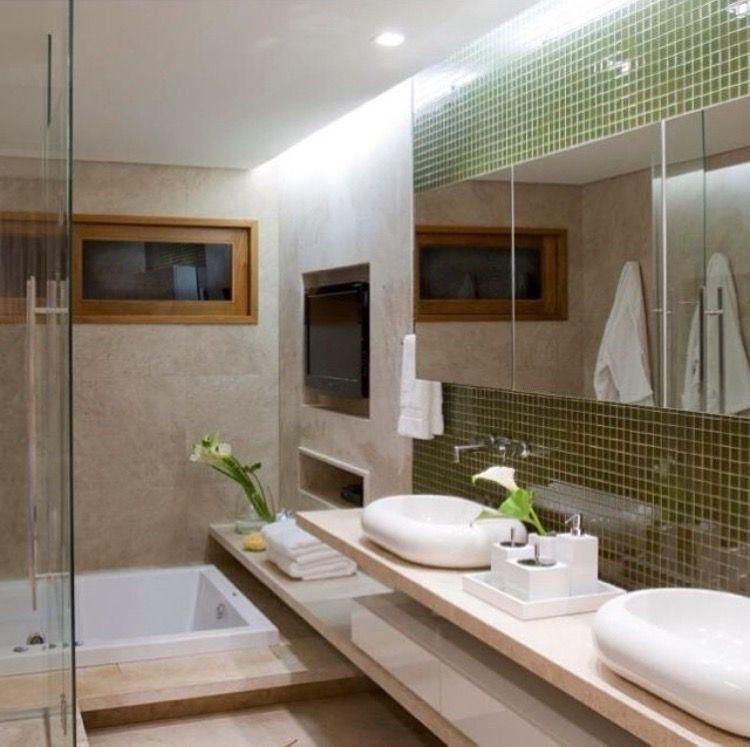Banheiro Com Pastilhas De Vidro Por Graziela Nicolai Bathroom Toilette Decor