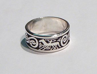 Viking Ring With Odin