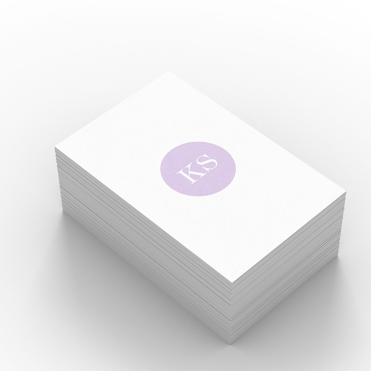 Shimada – one of our Light business card templates available to customise and order on our site.