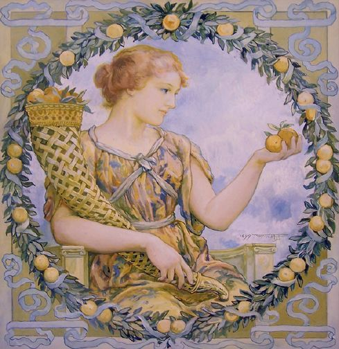 Goddess Of The Harvest,Will Hicok Low (1853 – 1932)