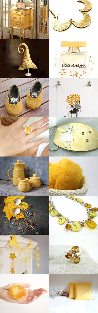 Christmas gold ! by bridesrules on Etsy--Pinned with TreasuryPin.com  My Vintage Yellow Coffee/Tea Set is featured in this fabulous treasury!