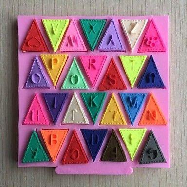 alfabet gors vormige fondant cake chocolade siliconen mal, cupcake decoratie gereedschappen, l11.2cm * w10.6cm * h0.7cm – EUR € 5.99